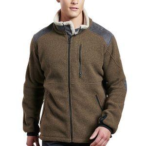 Kuhl alpenwurx brown fleece lined jacket comfort
